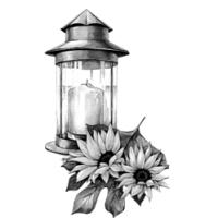 GraphicsByLiz_CandleSunflower