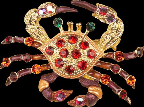 GraphicsByLiz_GlitteringSeaLifePin_Crab_Oct2008